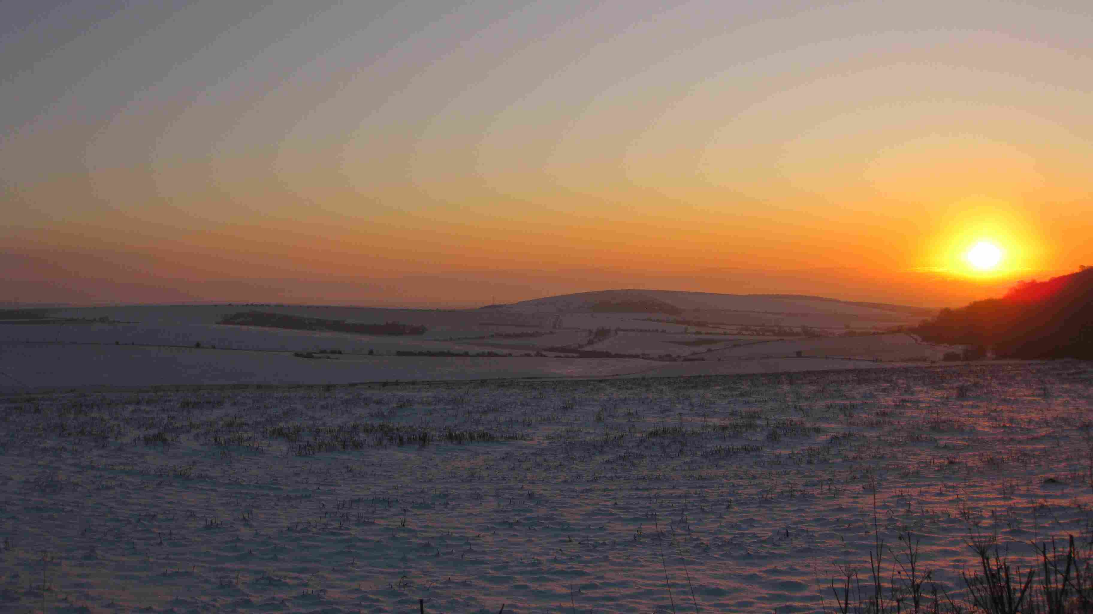 Sunrise over Cissbury