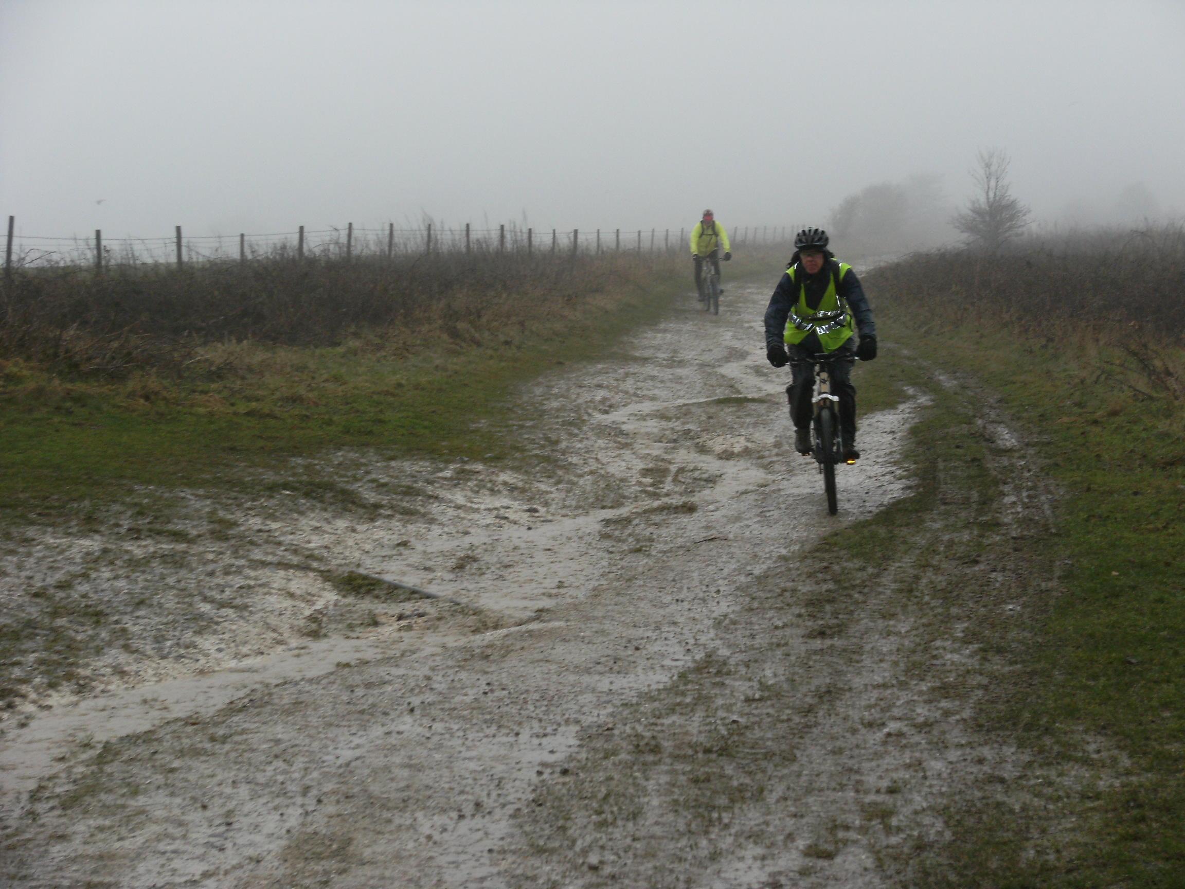 AM and ZA descend Chanctonbury