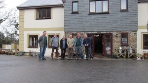 Outside the digs at Cornford prior to returning home