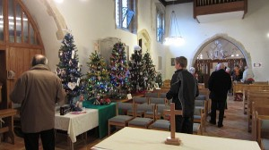 Christmas tree festival in St John the Baptist church Findon